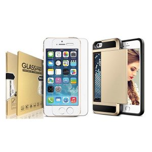 Bundled item Acente screen protector and Acente wallet card slot holder protective case for iphone 8 & iphone 7 at amaxmarket.com