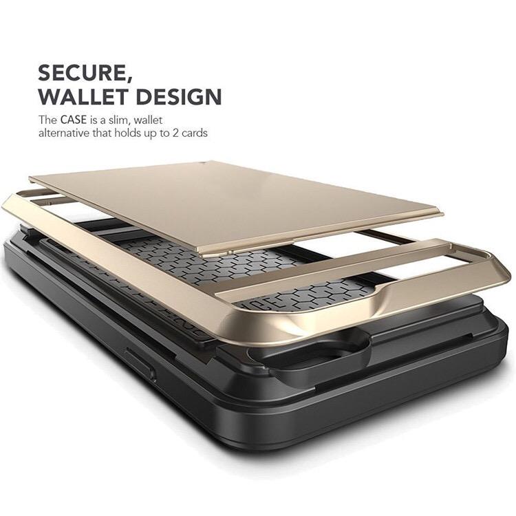 Acente Wallet Card Slot Holder Phone case gold – Fits iPhone 8 iPhone 7 at amaxmarket.com