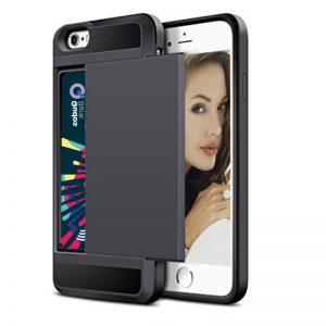 Acente Wallet Card Slot Holder Phone case black – Fits iPhone 8 iPhone 7 at amaxmarket.com