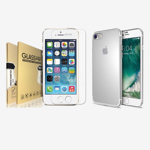 Bundled item Acente screen protector and Clear protective case for iphone 8 & iphone 7