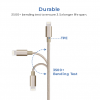 Acente Nylon Braided Charging Cable for iPhone or Android | Amaxmarket.com